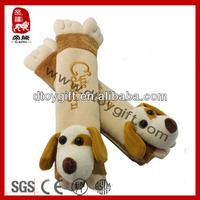 2014 new product stuffed dog cute plush car seat belt cover