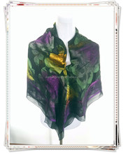 Woven scarf wholesale china with 80% silk kerchief