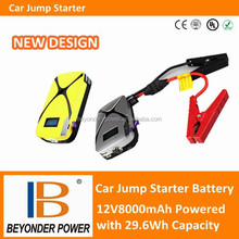 High quality 12V car jump start battery, power station with LED lights and USB port
