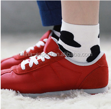 A248 2015 COTTON wholesale women fashion cute fresh creative personality Black and white dairy cows socks