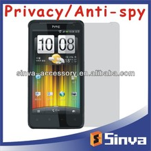 45 Degree Invisible Angle Anti Spy Screen Guard for htc sensation 4g, For sensation 4g Privacy Screen Protector Screen Filter