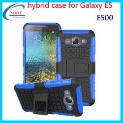 New arrival Mobile Phone Case PC and Silicon Hybrid Dual Layered Combo phone Case for Samsung Galaxy E5 E500
