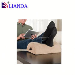 Reader folding chair with footrest, ergonomic footrest with contain hole, foot rest pillow