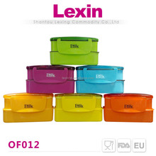 airtight transparent foldable frozen lunch box with lock