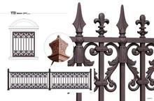 YT01 cast aluminum garden fence