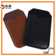 Top quality factory price genuin leather flip case for iphone 6 plus