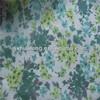 Small flower printed organza fabric