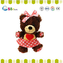 Meet EN71 ASTM Standard Heart-shaped skirt Bear painting case plush toys