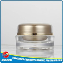 Beautiful Empty Cosmetic Container Jar Make Up Gold Cap
