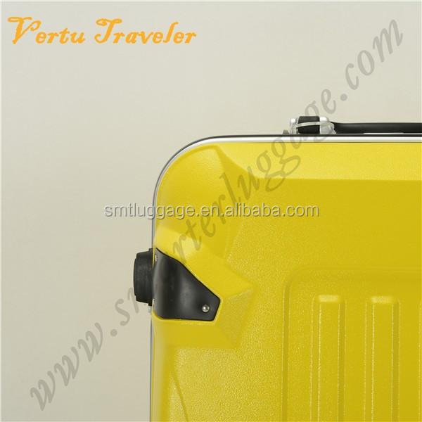 frais lumineux spinner jaune bagages valise à roulettes muets