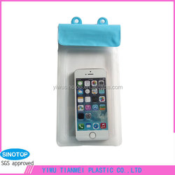 clear PVC duffle bag wrist bag mobile phone pouch cell phone sling bag