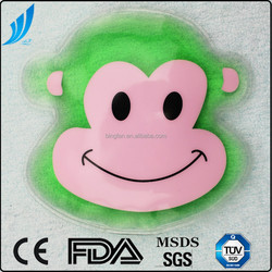 Gel hot & cold pack monkey shaped cooling and heating pack microwavable use