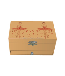 custom ballerina wooden gift packaging music jewelry paper boxes