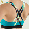 Never crack printing Breathable Dry fit Nylon spandex custom sports bra top
