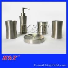 5pcs simple stainless steel bathroom accessories