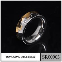 European American Rings Design Stainless Steel Gold And Silver Finger Men's Ring