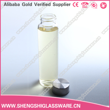 240ml clear empty traveling glass bottles with metal cover