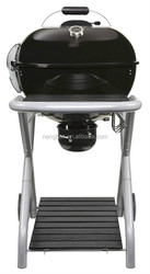 Portable charcoal bbq grill with wooden table