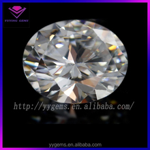 oval machine cut loose gemstone white cz stone for gift sets