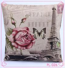 Creative European and American wind high-grade single-sided printing cotton pillowcase back cushion sets