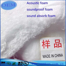 Low Density Snow White Soundproof Acoustic Foam