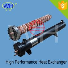 35KW Evaporator shell and tube plastic shell stainless steel tube heat exchanger