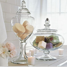 voluminous glass canisters for storage glass candy jars