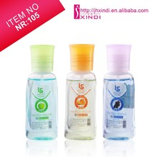 50ml acetone nail polish remover in different colour bottle