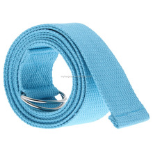 100% cotton yoga belt with double D metal Ring