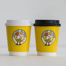 7oz/8oz Double wall coffee paper cup/custom logo printed