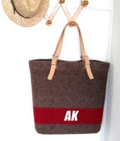 AKleatherware popular women felt tote bag