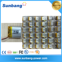 Factoty price LP 062530 400mah lithium polymer battery rechargeable 400mah battery 3.7V with PCM protection