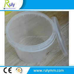 5L containers plastic bucket for yogurt with lid of the seal