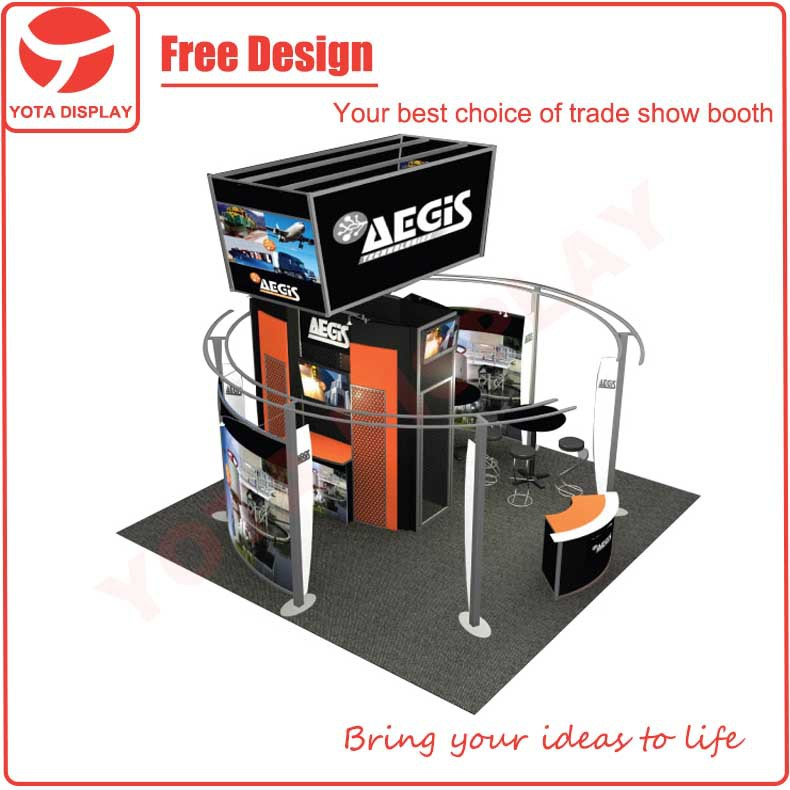 Portable Exhibition Stand Design : Yota custom aegis or booth portable trade show