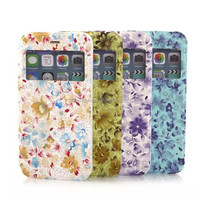 OEM blank leather phone cases Sublimation Leather Flip Cover for iPhone 6