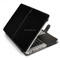 Black PU Leather Protective Laptop Case for Macbook Pro