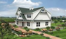 Luxury prefab steel villa/Morden steel structure villa/prefab house with carport