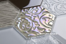 Crystal Glass With Different Surface Effect For Kitchen Backsplash
