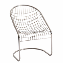 modern outdoor cafe pool side mesh wire S chair