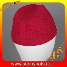 Wholesale 100% Wool Felt Kufi Hat Muslim In Red,Black,Camel