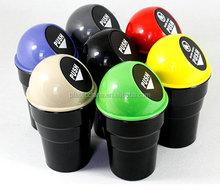 HOT SALE plastic round cute trash can in car