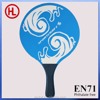 Promotional sports beach paddle colorized wood beach tennis racket/beach paddle /beach bar set