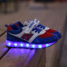 fashion new style children led shoes sport brand name high quality, eight color led light kids shoes for boys girls from china