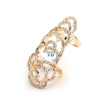 European and American fashion over drilling hollow ring of roses elastic movable joints