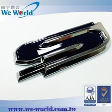 Super excellent glossy chrome plating metal logo design for cars