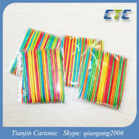 Hot!!! Disposable Decorated Colored Wooden Toothpicks For Christmas