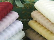 wholesaler 200t-800t plain stain stripe jacquard hotel bedding set fabric