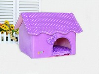 Pet Waterloo bowknot pet litter color easy unpick and wash the dog house