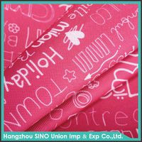 waterproof PVC coated polyester printed oxford cloth for storage box