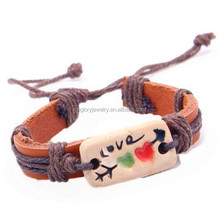 Wholesale fashion pottery cheap couple bracelets